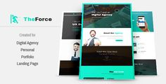 TheForce Digital Agency, Personal, App Landing PSD Template - Creative PSD Templates Download here : https://themeforest.net/item/theforce-digital-agency-personal-app-landing-psd-template/19484555?s_rank=138&ref=Al-fatih