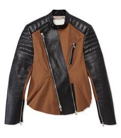 #ShopBAZAAR Editors' Most Wanted – 3.1 Phillip Lim Cinnamon Wool & Black Leather Moto Peplum Jacket