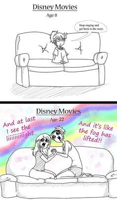 Funny pictures about Watching Disney Movies Then And Now. Oh, and cool pics about Watching Disney Movies Then And Now. Also, Watching Disney Movies Then And Now photos. Disney Pixar, Film Disney, Disney And Dreamworks, Disney Songs, Disney Quotes, Disney Villains, Disney Princesses, Disney Frozen, Funny Shit