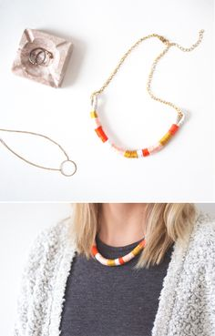 easiest necklace ever | The Lovely Drawer