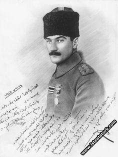1918-(24 Mayıs 1918)Tarihinde yakın arkadaşı Ruşen Eşref Ünaydın'a imzaladığı fotoğraf