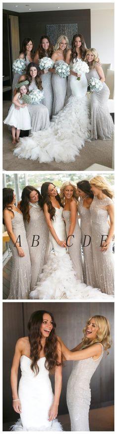 Gorgeous Column/Sheath Sleeveless Floor-length Lace Scoop Neck Bridesmaid Dress…