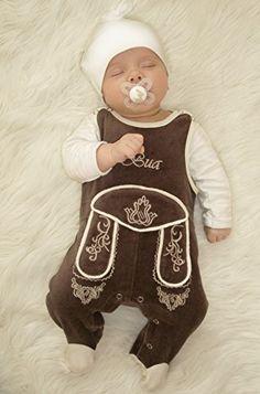 Babystrampler Lederhose - An diesem lustigen Geschenk für Neugeborene und Co. erfreuen sich nicht nur die Bayern! Zieh dem Kleinen den Babylederhosen Strampler Bua an und ab geht's im Partnerlook auf die Wiesn oder auch in den Wald! - Geschenkideen für Kinder