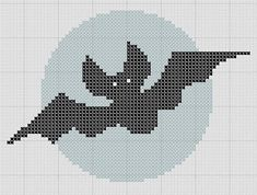 I hope you've been enjoying my little Halloween charts over the last few weeks. Well, there's still time for another one if your fingers are still itchin' to get stitchin'! I reckon this little bat...