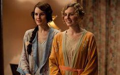 Downton Abbeys Michelle Dockery as Lady Mary Crawley and Laura Carmichael as Lady Edith CrawleyPhoto: Joss Barratt