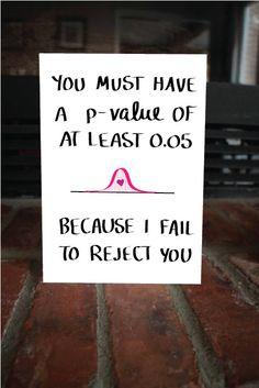 Nerdy Statistics Card Funny Valentine's Day Card by MAJIKATZ