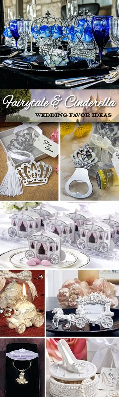 Having a Fairytale or Cinderella themed wedding?  Check out these 50 unique wedding favor ideas