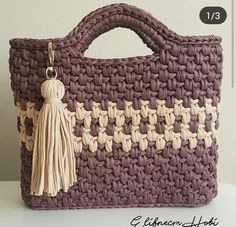 Crochet Tote, Crochet Handbags, Crochet Purses, Knit Crochet, Crochet Flower Patterns, Crochet Flowers, What Is Set, Digital Certificate, How To Purl Knit