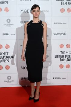 Fabulously Spotted: Felicity Jones Wearing Burberry - 2013 British Independent Film Awards - http://www.becauseiamfabulous.com/2013/12/felicity-jones-wearing-burberry-2013-british-independent-film-awards/