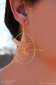 Real Starfish necklace Real Starfish Sugar by KaliaKaiDesigns