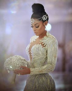 FABULOUS is the only way to describe this Bridal Styles bride's wedding day! Keyshia Ka'Oir wed Gucci Mane in a celebration so sparkly were blinded by the glam! Wedding Goals, Wedding Attire, Gucci Mane Wedding, Bridal Headpieces, Bridal Hair, Dream Wedding Dresses, Bridal Dresses, Braut Make-up, Mane Event