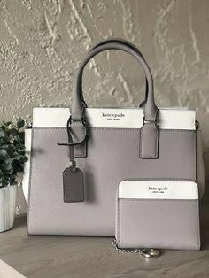 Kate Spade Medium Cameron Satchel With Matching Wallet Set for sale online Fall Handbags, Purses And Handbags, Leather Handbags, Cheap Handbags, Latest Handbags, Popular Handbags, Hobo Handbags, Handbags Online, Chanel Handbags