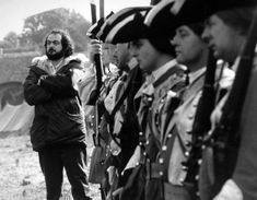 Director Stanley Kubrick on the set of Barry Lyndon (1975).