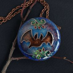 Items similar to Flying bat necklace. Wing necklace on Etsy Wiccan Jewelry, Gothic Jewelry, Unique Jewelry, Cat Jewelry, Enamel Jewelry, Victorian Vampire, Jewellery Sketches, Jewelry Sketch, Cat With Blue Eyes