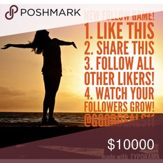 🎉15% BUNDLE SALE &🆕FG! 10K! THANKS! Next: 15K?😊 NEW Follow Game! 1. ❤️ this 2. Share this 💞 3. Follow all other likers!❤️ 4. Watch Your Followers Grow! 🌷                       Tag your friends! Come back & follow NEW likers! Let's Grow Together!💗 😉 I'd love if you could help me reach 15K followers! 😊 Other
