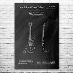 Gibson Futura Electric Guitar patent art design circa 1958. #Gibson #Futura #electric #guitar #music #art #musician #guitarist #gift