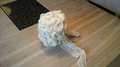 Hand made/crocket/cream white/Wedding flowers/Finland