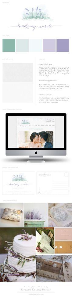 watercolor inspired logo, branding materials, custom prophoto blog+site web design by Tiffany Kelley Design www.tiffanykelley.com