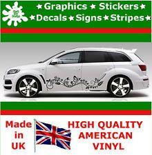 New X Stripes Flowers Butterfly Side Car Stickers Vinyl Car - Custom vinyl car decals uk