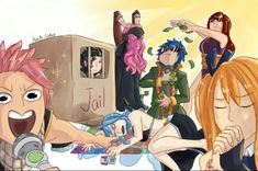 I love how erza and jellal are posing