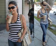 Photos of Mila Kunis Drinking Starbucks in LA via popsugar.com...I love her! If I was a celebrity she would be my best friend. LOL