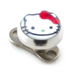 Piercing Microdermal pas cher Hello Kitty Blanc [1049] #piercing #piercings #bodypiercing #microdermalpiercing