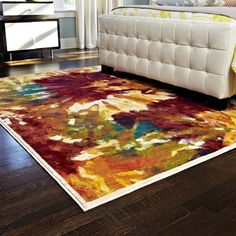 Skye Monet Flame Rug (3'9 x 5'2) - Overstock™ Shopping - Great Deals on Alexander Home 3x5 - 4x6 Rugs
