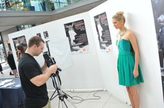 Models pose for student photographers at the Norwich Fashion Week pop up event at The Forum. PHOTO BY SIMON FINLAY