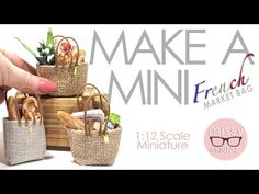 The first of many 'Make a Mini Quickie' tutorials to come. This little French market bag is a neat little prop for your mini space - fill it with your favour. Dollhouse Miniature Tutorials, Miniature Crafts, Miniature Dolls, Modern Dollhouse, Diy Dollhouse, Dollhouse Miniatures, Barbie Furniture, Dollhouse Furniture, Furniture Vintage