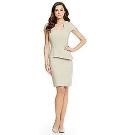 0c68cb0a1e5 Antonio Melani Gwen Novelty Peplum Suiting Dress  Dillards Antonio Melani