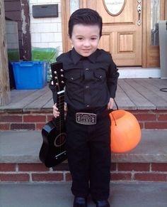 Boy in Black — Little kid in a Johnny Cash Halloween costume
