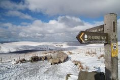 The Pennine Way, in snow.