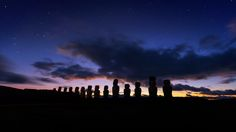 First Light at Ahu Tongariki, Rapa Nui (Easter Island) Chile Easter Island, Chernobyl, One Light, Chile, Northern Lights, Remote, United States, Sunset, Landscape