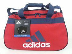 NWT Adidas Diablo Small Duffel Bag Red/Navy Blue/White Sport Gym Travel Carry On #adidas #ebay #adidas #DiabloSmallDuffelBag