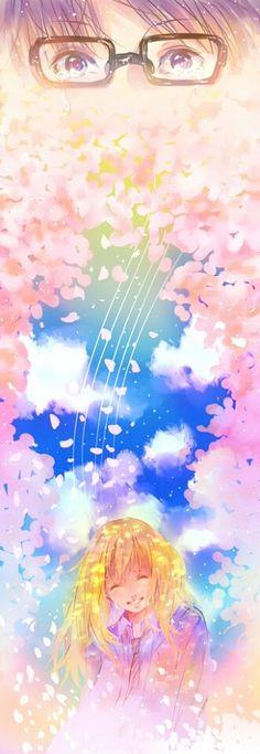 Arima Kousei Miyazono Kaori Shigatsu wa kimi no uso Manga Anime, Fanart Manga, Anime Art, Your Lie In April, Me Me Me Anime, Anime Love, Live Action, Hikaru Nara, Miyazono Kaori