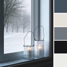 It's a Winter Wonderland – Colour Inspiration and a Contest! General Paint Colour: Dark Shadows, Icefiel, Marathon, Portage, Stoney Pain #colourpalette #colourpalettesilove