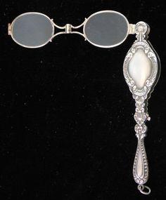 Great Victorian Antique Sterling Silver Folding Lorgnette Eye Glasses | eBay