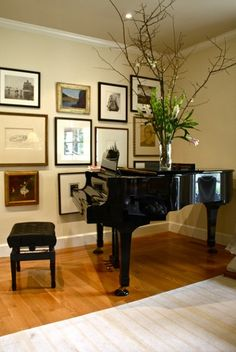 My piano is a little larger, and I've been trying to figure out what to do with that corner.  Awesome idea!  ~R.