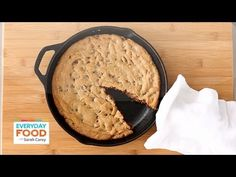 Skillet Chocolate Chip Cookie - Everyday Food with Sarah Carey - YouTube