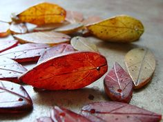 I love these-Leaf Pendant  Small Size  Pick Your Color by humblebeads on Etsy