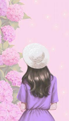 Korean Illustration, Illustration Girl, Anime Korea, Lovely Girl Image, Cute Cartoon Girl, Cute Girl Wallpaper, Girly Pictures, Digital Art Girl, Kawaii Drawings