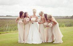 champagne bridesmaid dresses floorlength
