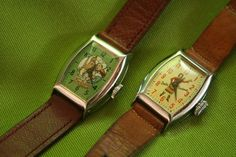 Vintage Antique Roy Rogers and Dale Evans Cowboy Watches w Trigger Leather Bands # 2 image