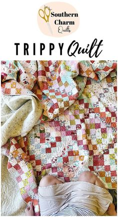 QUILT REVEAL, SCRAPPY QUILTS, TRIPPY QUILT by Southern Charm Quilts Charm Quilt, Fabric Pictures, How To Finish A Quilt, Scrappy Quilts, Southern Charm, Quilt Making, Trippy, Abstract Pattern, Quilt Patterns