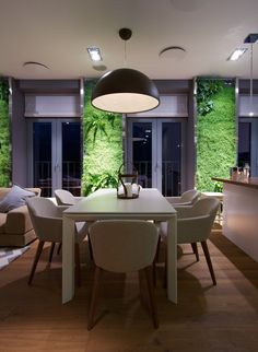 Apartment with Green Walls by SVOYA Studio