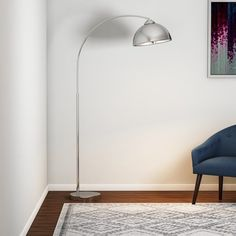 Shop for Carson Carrington Egersund Chrome Arc Floor Lamp. Get free delivery On EVERYTHING* Overstock - Your Online Lamps & Lamp Shades Store! Get in rewards with Club O! Interior Design Tools, Luxury Interior Design, Home Interior, Design Projects, Arc Floor Lamps, Modern Floor Lamps, Home Modern, Midcentury Modern, Indirect Lighting