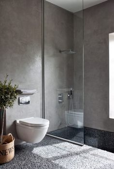 Here we showcase a a collection of perfectly minimal interior design examples for you to use as inspiration. Check out the previous post in the series: Minimal Modern Bathroom, Small Bathroom, Master Bathroom, Beautiful Bathrooms, Interior Design Examples, Interior Design Inspiration, Bad Inspiration, Bathroom Inspiration, Floating Toilet