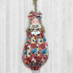 Kitchen wall decor plastic bag dispenser by CountryCutieBagDolls