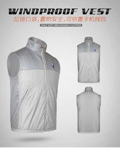 PGM Golf Sportswear Windbreaker Jacket Vest Waterproof Men Spring Vest Clothes Light Cycling Sleeveless Jacket