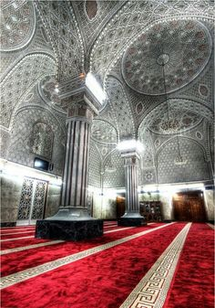red #beautiful #pretty #red #silver #masjid #mosque #muslim #islam #photography #building